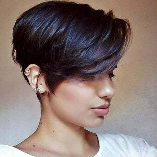Short Side Swept Bangs