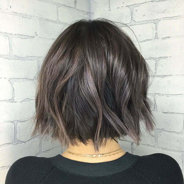 Short Bob Cut Back View