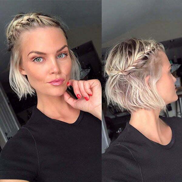 Einfache Zöpfe für kurzes Haar