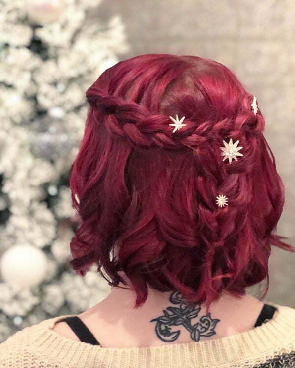 Wasserfallgeflecht kurzes Haar