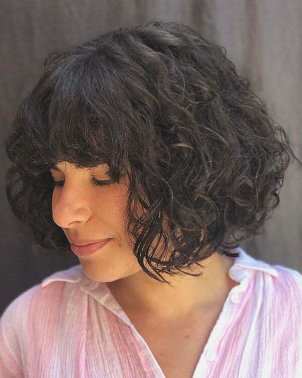 Short Curly Hair Female