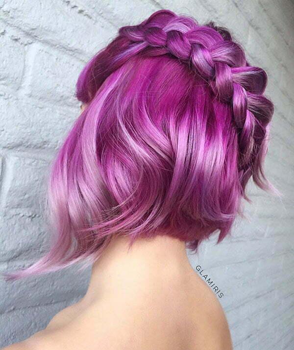 Süße geflochtene Frisuren für kurzes Haar