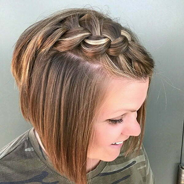 Cute Braided Hairstyles For Short Hair