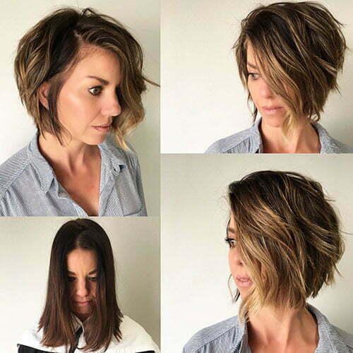 Short Bob Haircuts With Side Bangs