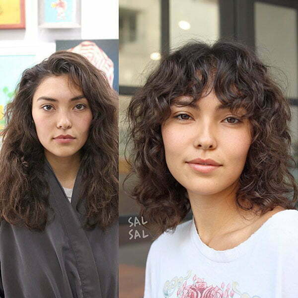 Short Curly Hair Models