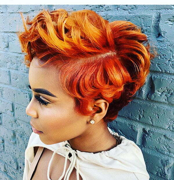 Short Red Hairstyles For Black Women