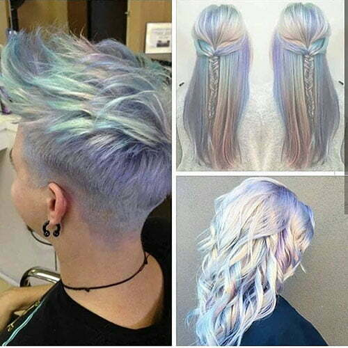 Colored Pixie Cut
