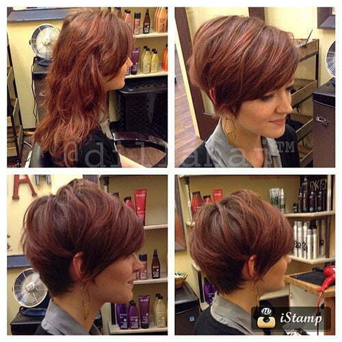 Short Hair With Side Swept Bangs