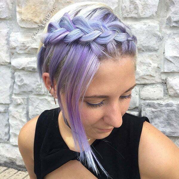 Bilder von geflochtenen Frisuren für kurzes Haar