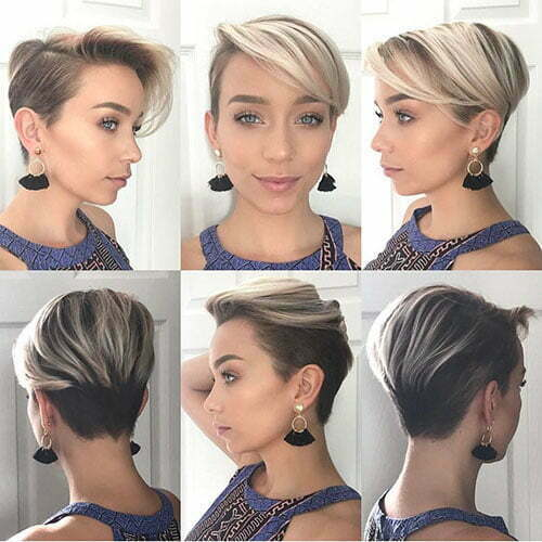 Pixie Cut With Side Swept Bangs