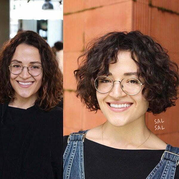 Short Curly Hair Cut