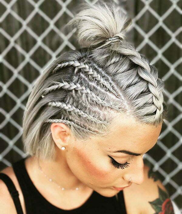 Cornrow-Zöpfe für kurzes Haar