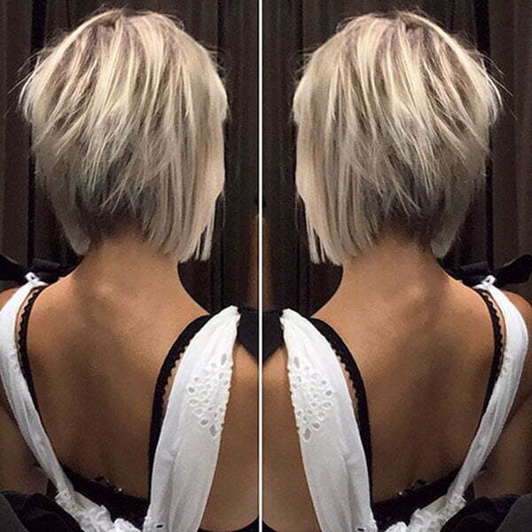 Back View Of Short Blonde Hair