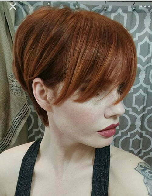 Popular Hair Colors for Short Hair-11