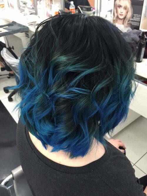 Blue Black Short Hair
