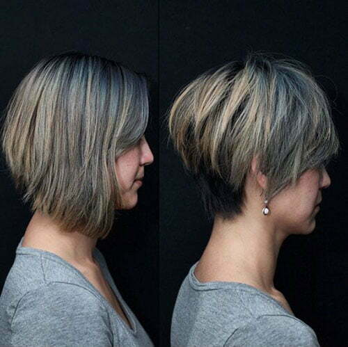 Popular Hair Colors for Short Hair-18