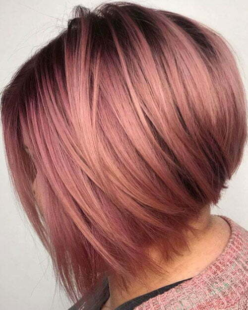 Popular Hair Colors for Short Hair-19
