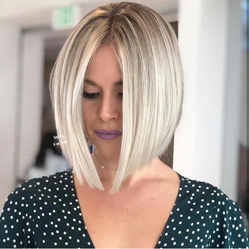 Blondes Bob-Haarschnitt