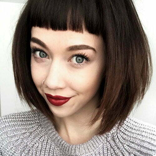 Fringe Bangs Short Hair