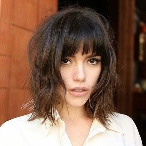 Short Hair With Bangs