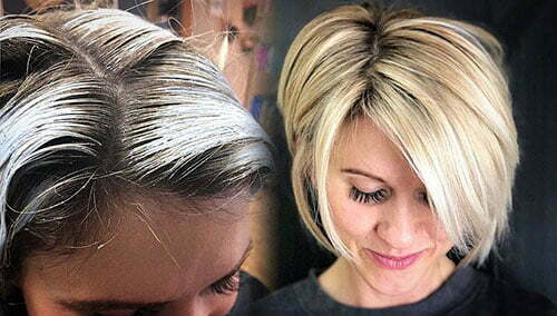 Short Layered Bob With Side Bangs
