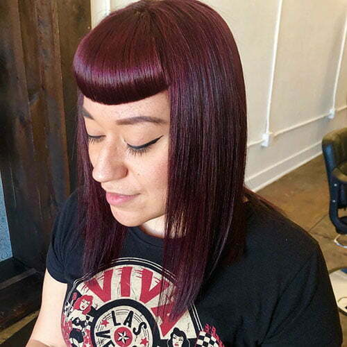 Short Red Hair With Bangs