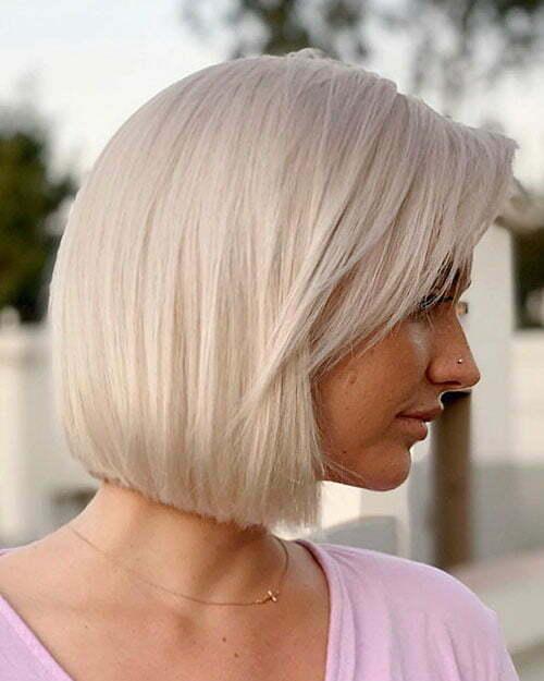 Straight Blonde Bob