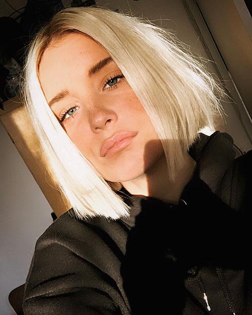 Blonder Bob-Frisuren