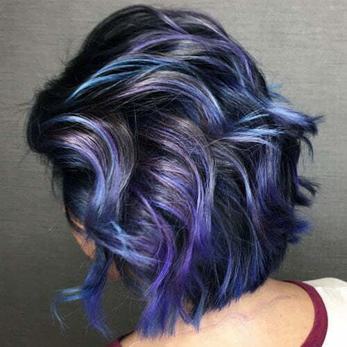 Purple And Blue Short Hair