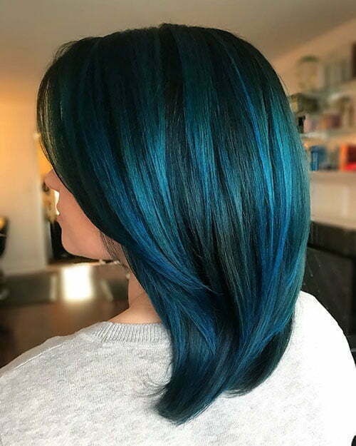 Black And Blue Short Hair