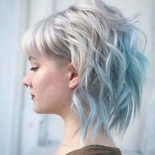 Short Light Blue Hair