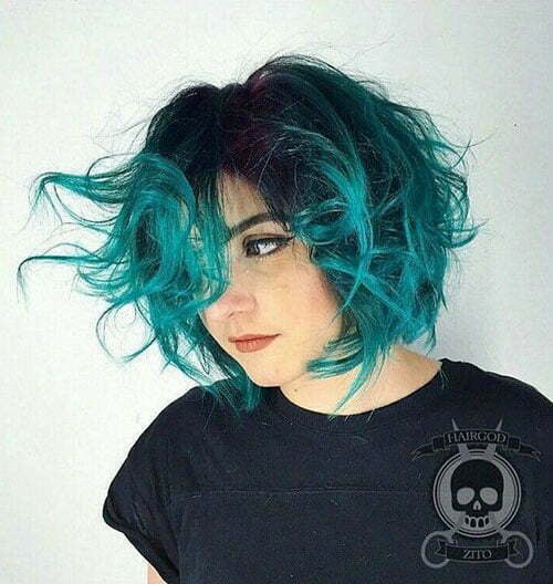 Blue Ombre Short Hair