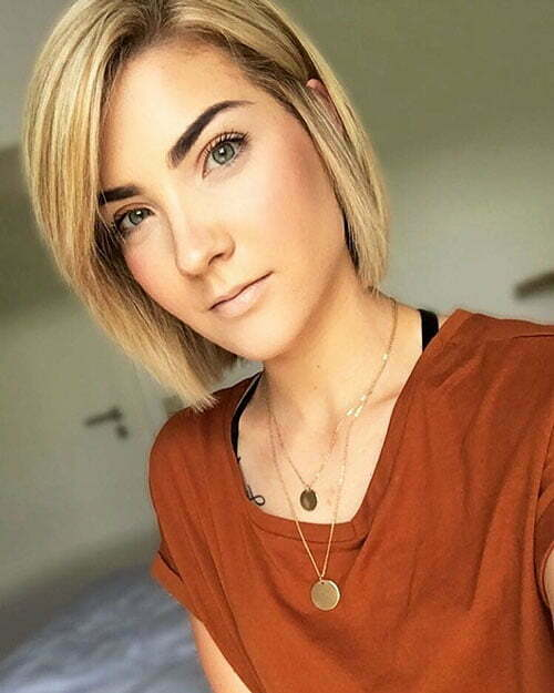 Blonde Chin Length Bob