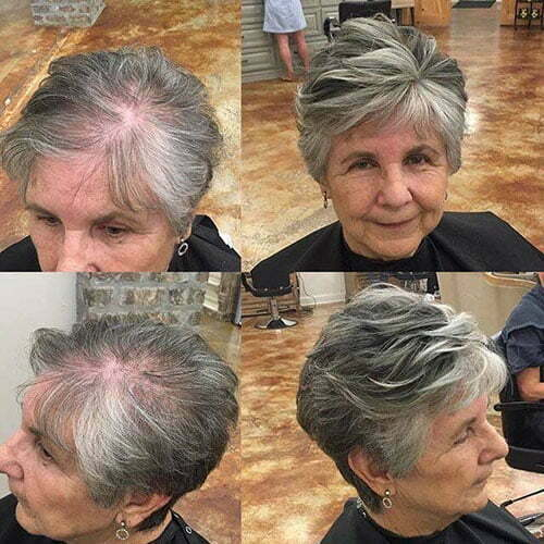 Pixie Haircuts For Older Women With Fine Hair