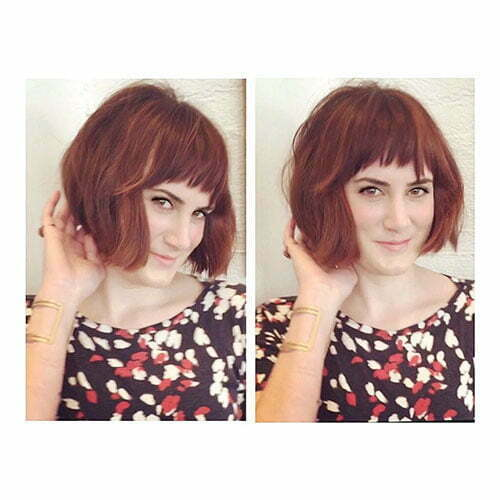 Short Hairstyles With Bangs For Thick Hair