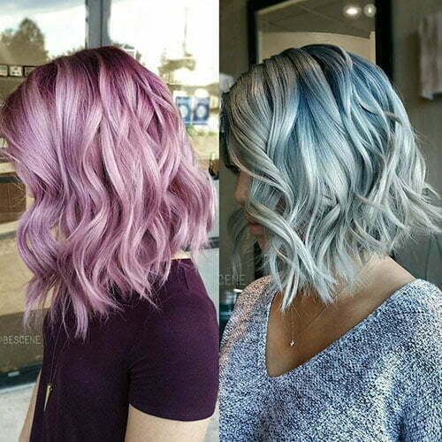 Blue Hairstyles For Short Hair