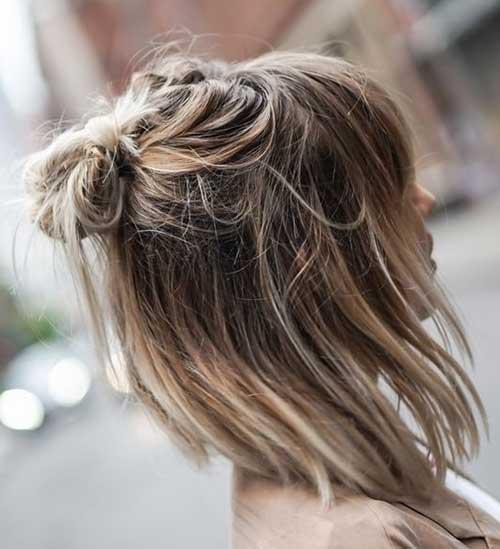Einfache Frisur für Kurze Haare