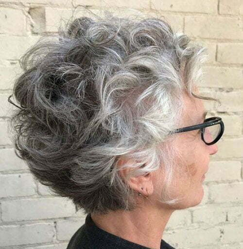 Curly hair short hairstyles for over 50s