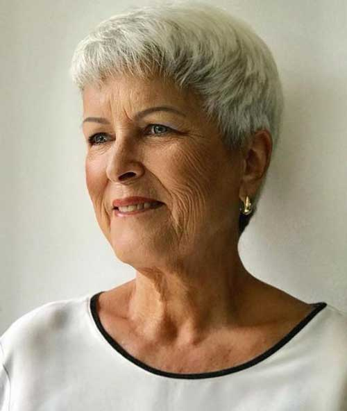 Short Fine Hairstyles for Older Women
