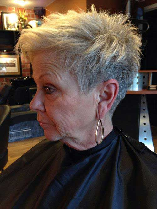 Short Pixie Hairstyles for Older Women with Thin Hair