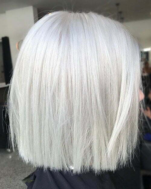 White Blonde Short Hairstyles