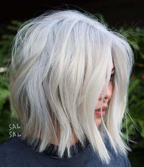 Short White Blonde Hair