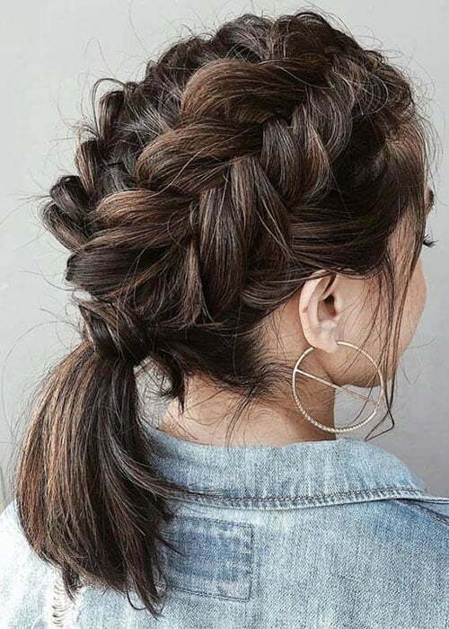 30 Best French Braid Short Hair Ideas 2019 Short Haircut Com