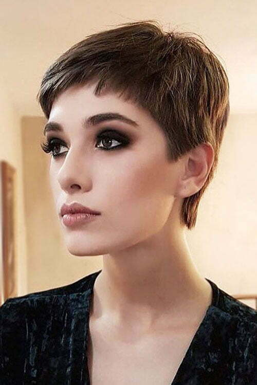 Short Dark Brown Hair-20