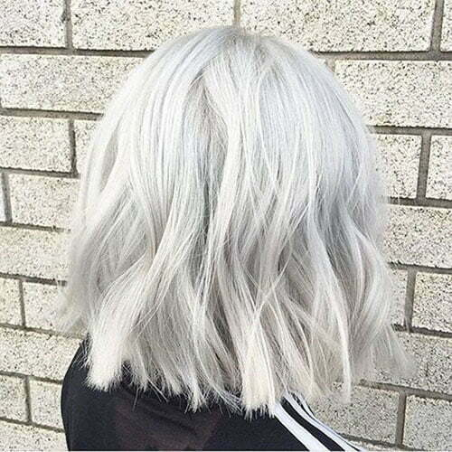 Short White Blonde Hairstyles