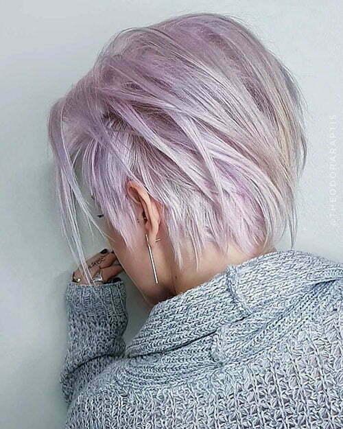 Long Layered Pixie Haircut