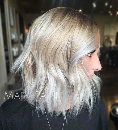 Ash Blonde Ombre Short Hair