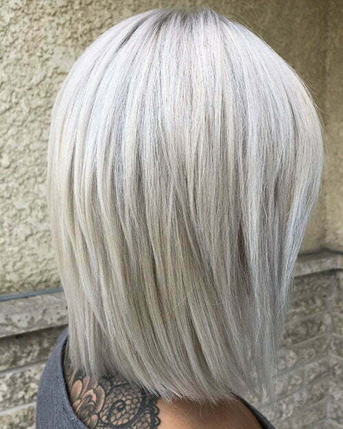 Short White Blonde Hair