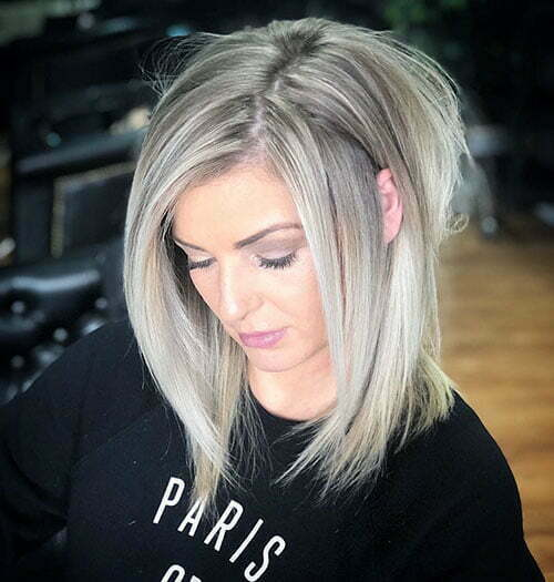Ash Blonde Balayage Short Hair
