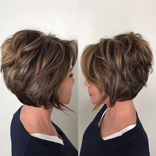 Layered Bobs For Women Over 50